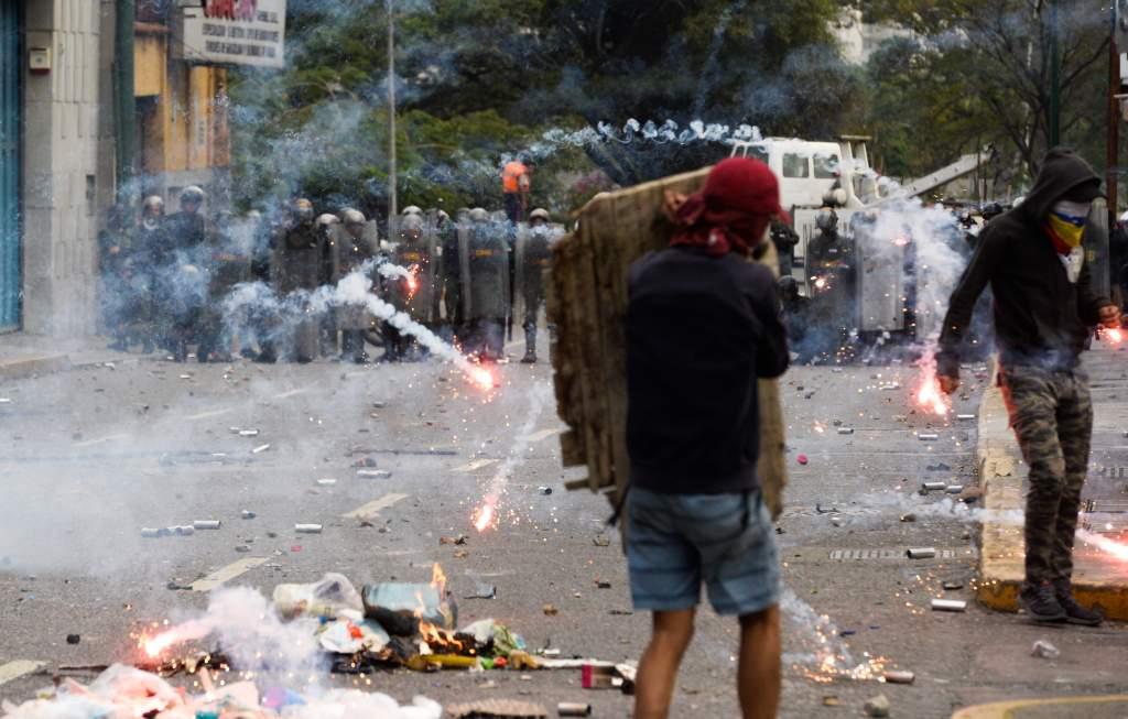 protesta de opositores en Caracas