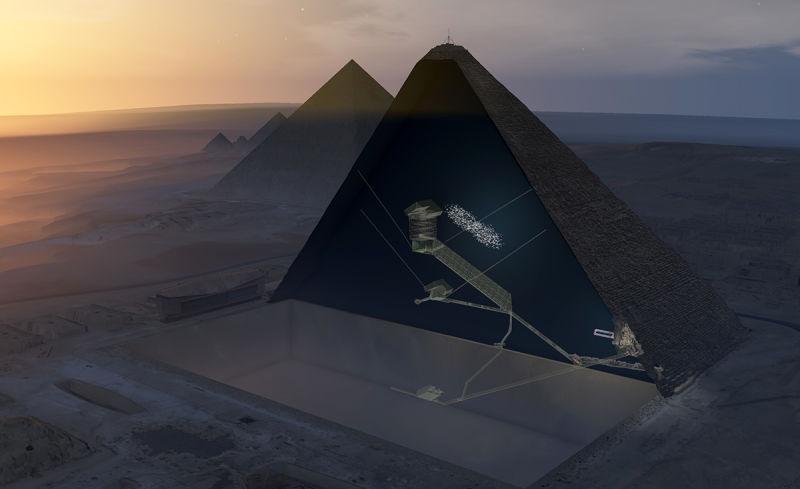 cámara oculta en la Gran Pirámide de Keops