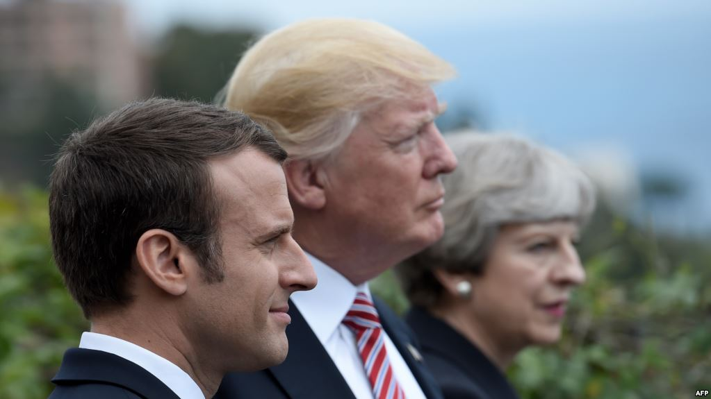 Macron dialoga con Trump y May