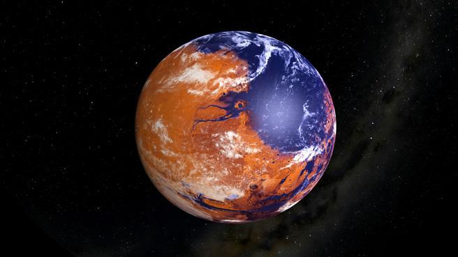 restos orgánicos en Marte