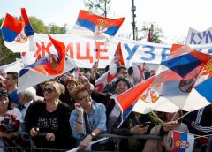 Marcha contra Aleksandar Vucic